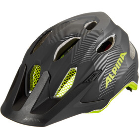 Alpina Carapax Casque Adolescents, black-neon-yellow